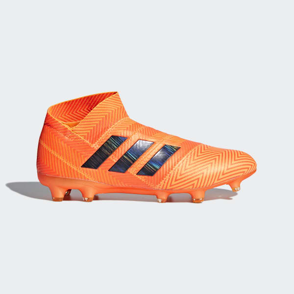 Zapatos de Fútbol Nemeziz 18+ Terreno Firme ZEST/CORE BLACK/SOLAR RED DA9589