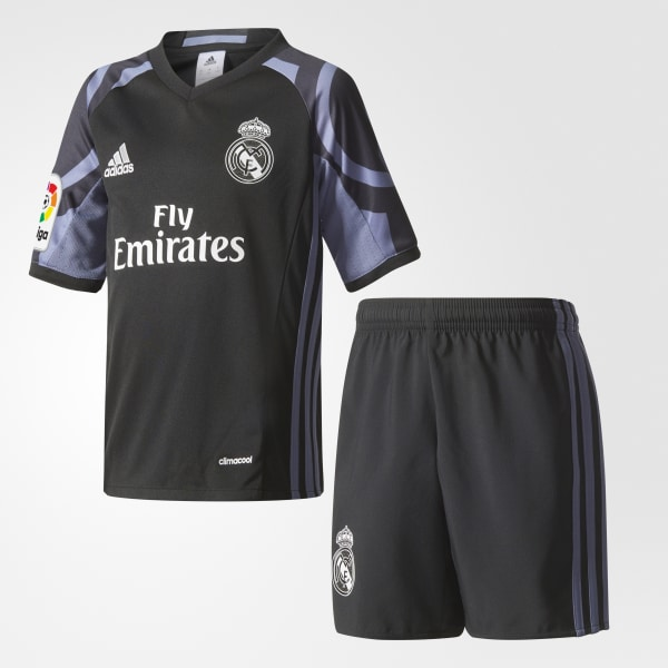 Mini Kit Third Real Madrid Nero AI5148
