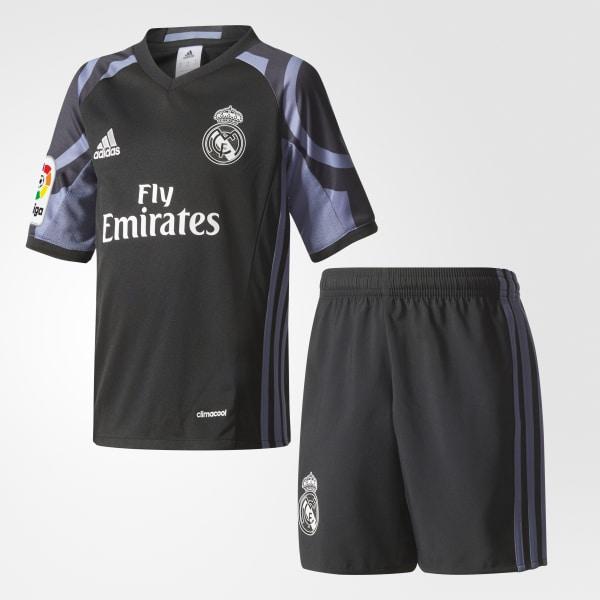 Real Madrid Mini-Ausweichausrüstung schwarz AI5148