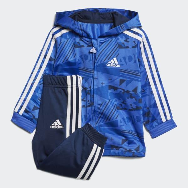 Conjunto Jogger Shiny Hooded Azul CF7394