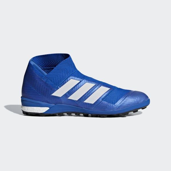 Zapatos de Fútbol Nemeziz Tango 18+ Césped Artificial Azul DB2466