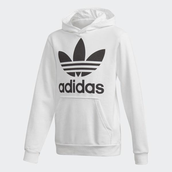 Sweat-shirt à capuche Trefoil blanc DH2667