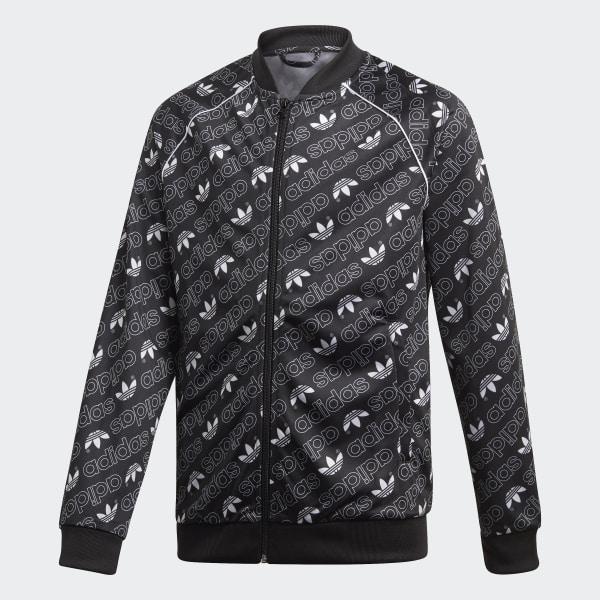 Trefoil Monogram SST Track Jacket Black DI0264