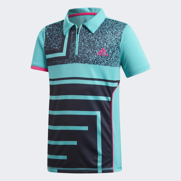 Seasonal Polo Shirt Turquoise DM5023