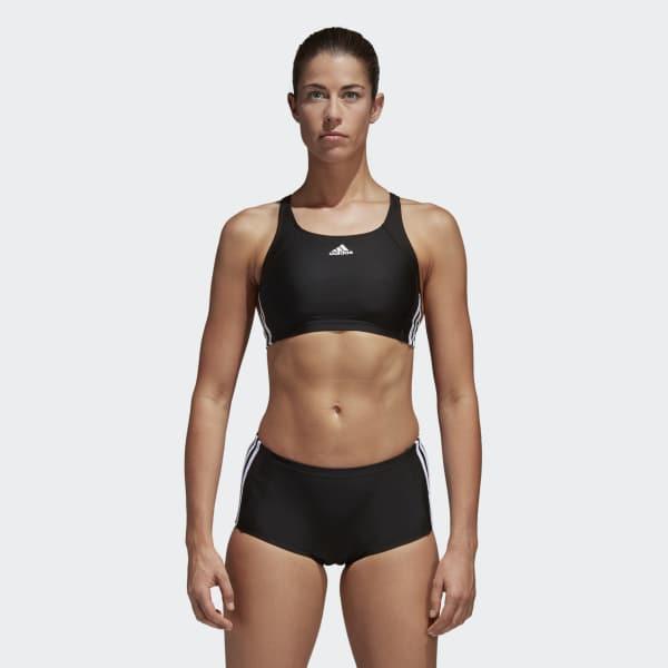 adidas essence core 3 stripes swim bikini Black BP5480