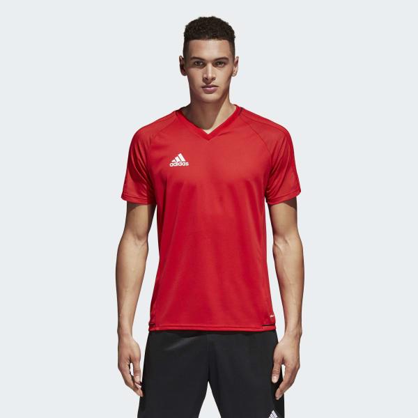 Tiro17 Training Voetbalshirt rood BP8557