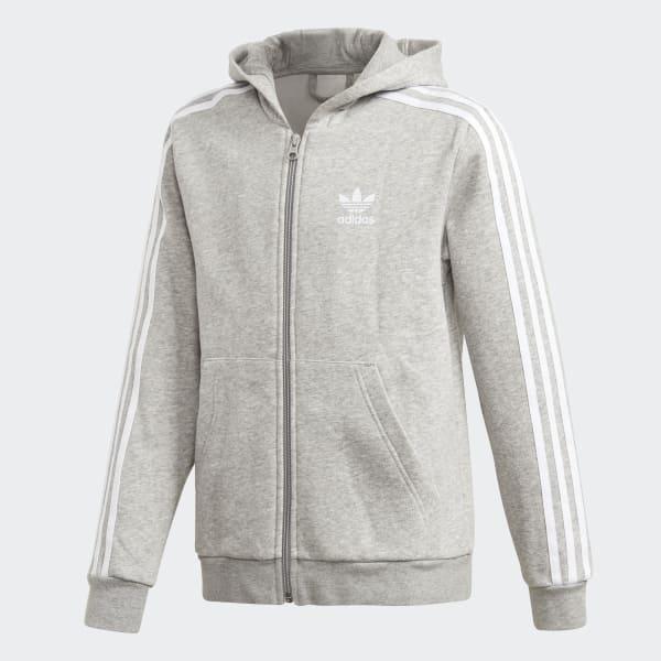 Veste à capuche Full Zip gris DH2702