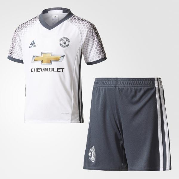 Miniconjunto tercera equipación Manchester United FC Blanco AI6682
