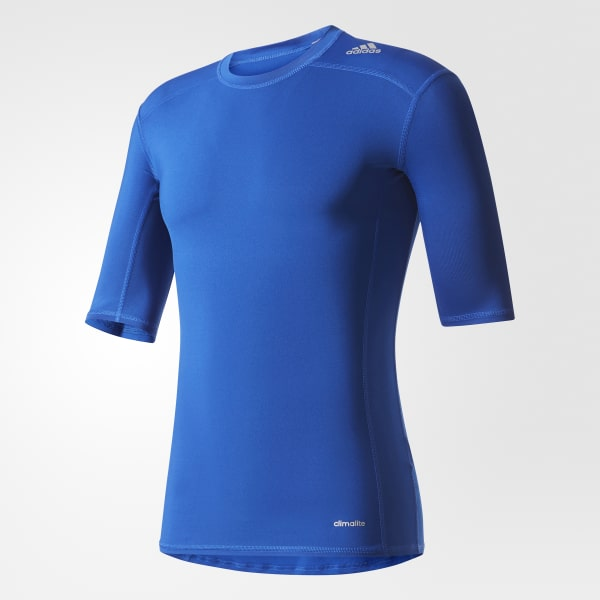 Camiseta Base Techfit Azul AJ4971