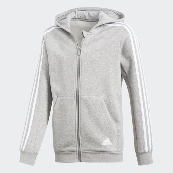 Veste à capuche Essentials 3-Stripes gris CF6584