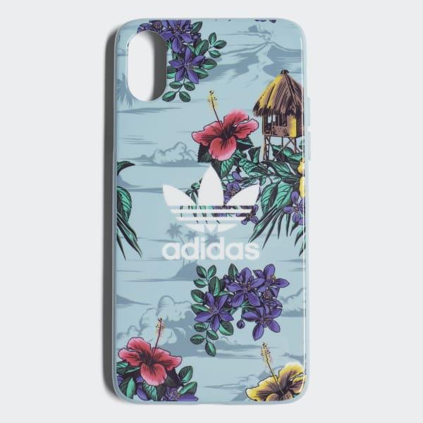 Custodia Floral Snap iPhone X Blu CJ8322