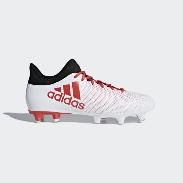 X 17.3 Soft Ground Voetbalschoenen wit CP9202