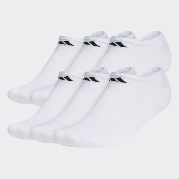 Athletic No-Show Socks 6 Pairs White 101642