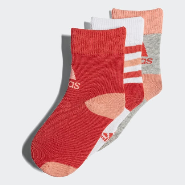 Ankle Socks 3 Pairs Red CV7155