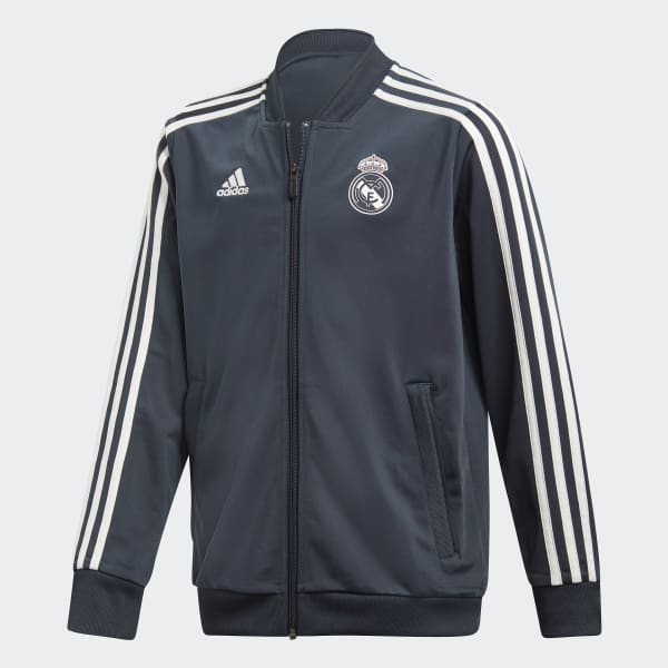 Chamarra Real Madrid Poliéster 2018 Gris CW8635