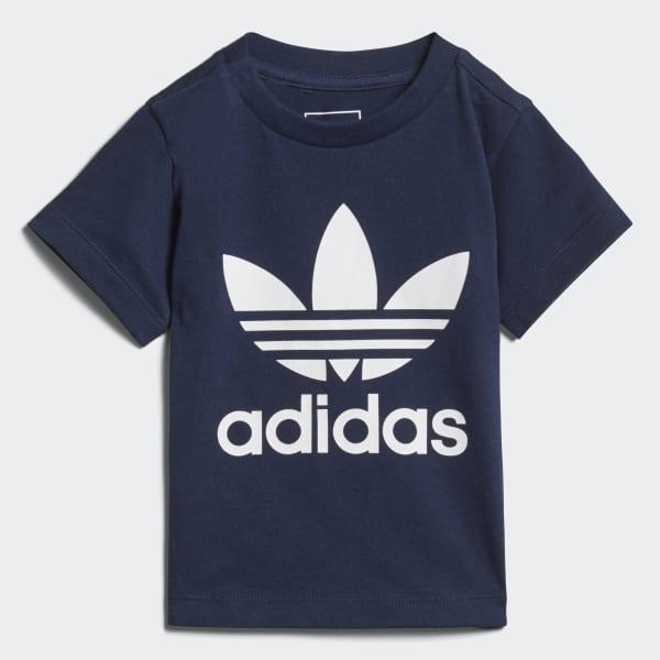 Trefoil T-shirt blauw D96099