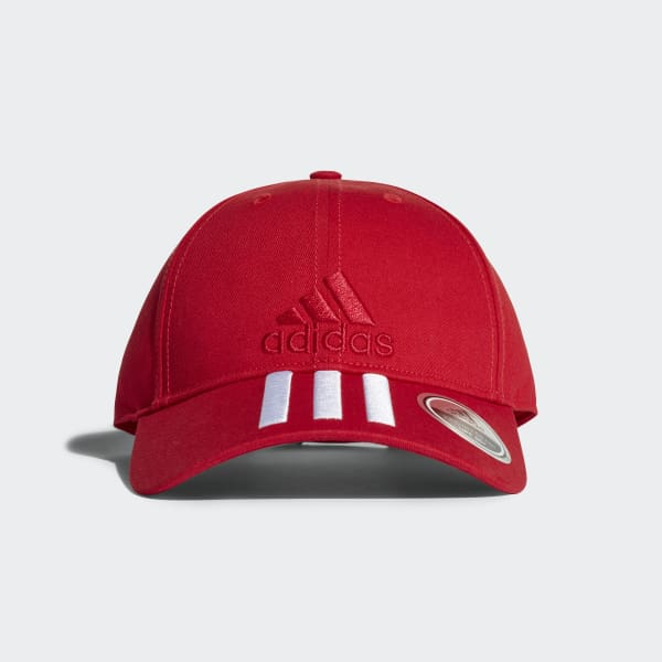 Six-Panel Classic 3-Stripes Cap Red DJ0978