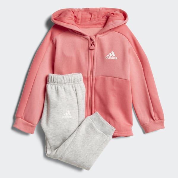 Linear Hoodie Fleece Jogger Pink CF7405