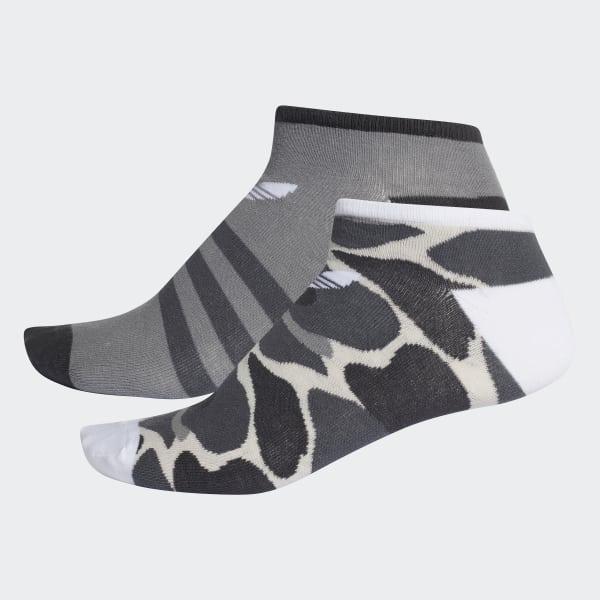 Trefoil Liner Socks 2 Pairs Multicolour DH1020