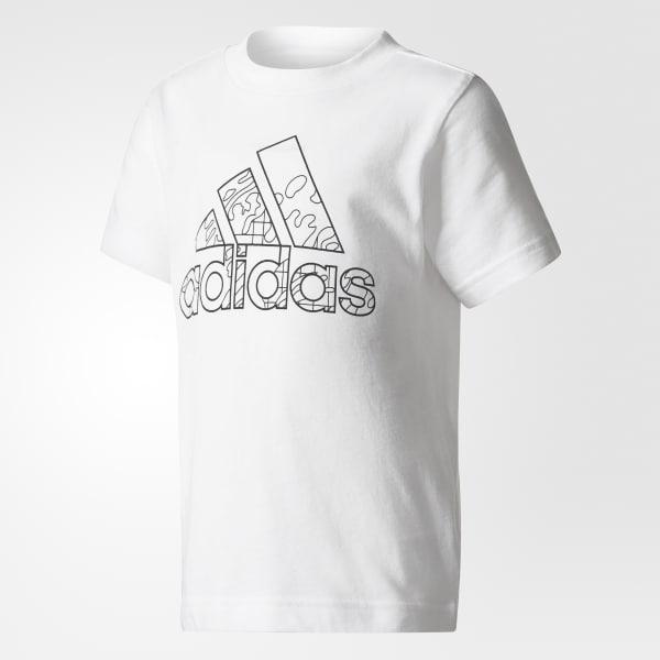 T-shirt Draw-On-Me Bianco CF1258