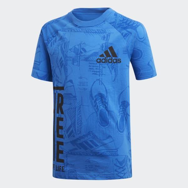 ID Print T-shirt blauw DJ1442