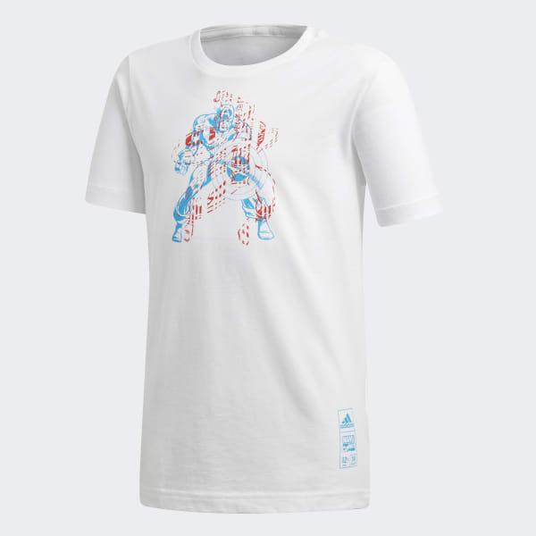 Marvel Captain America T-Shirt weiß DM7768