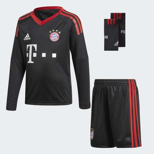FC Bayern München Mini-Torwartausrüstung schwarz AZ7944