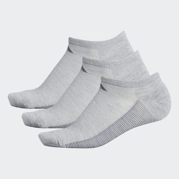 Climacool Superlite Stripe No-Show Socks 3 Pairs Grey CJ0604