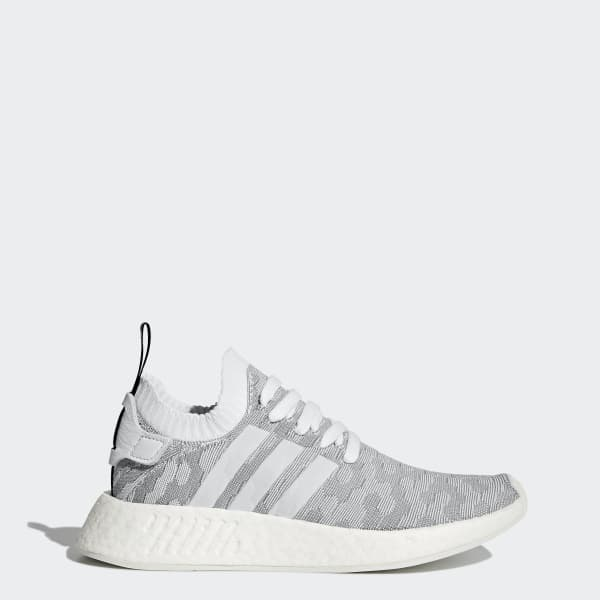 Chaussure NMD_R2 Primeknit blanc BY9520