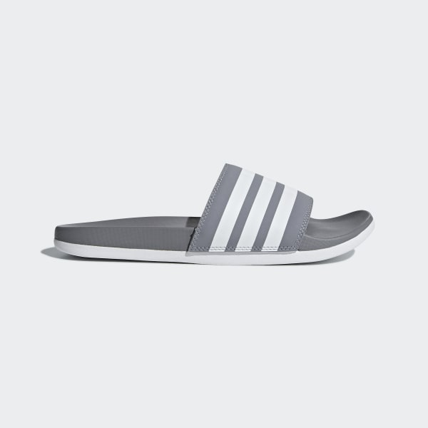 Adilette Cloudfoam Plus Stripes Slides Grey B42115