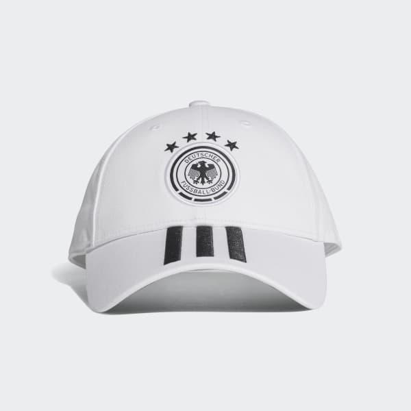 DFB 3-Streifen Kappe weiß CF4928