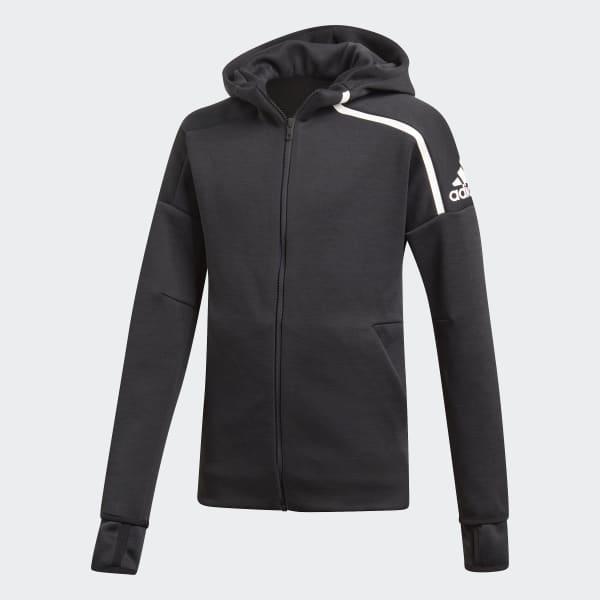 adidas Z.N.E. Fast Release Hoodie grau DJ1374