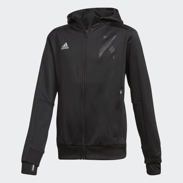 Veste à capuche X noir DJ1253