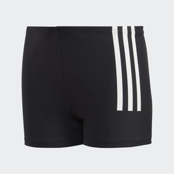Back-To-School 3-Stripes Swim Boxers Black DL8872