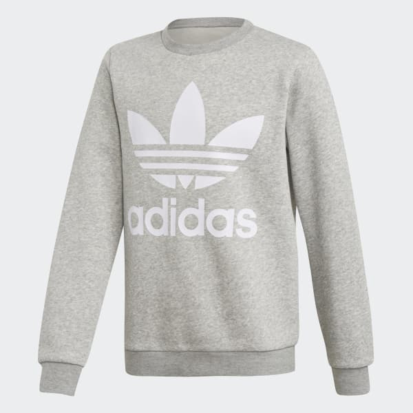 Fleece Crew Sweatshirt Grey DH2706