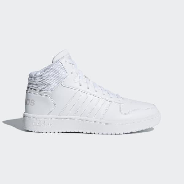 Chaussure Hoops 2.0 Mid blanc B42099
