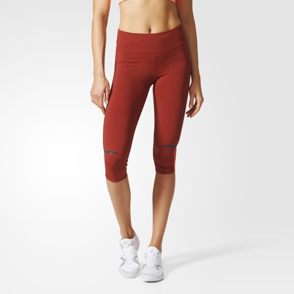 Chill Three-Quarter Tights Red AZ2930