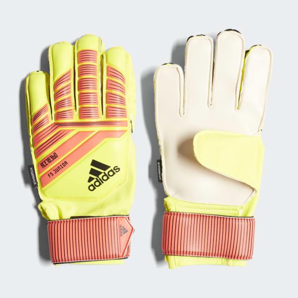 Predator Fingersave Junior Gloves Yellow CW5599