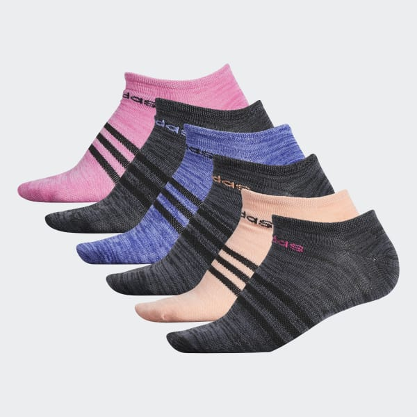 Superlite No-Show Socks 6 Pairs Black CJ0620