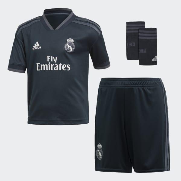 Mini kit Real Madrid Extérieur gris CG0560