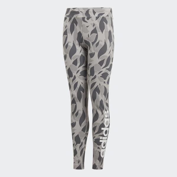 Linear Printed Tights Grey DJ1306
