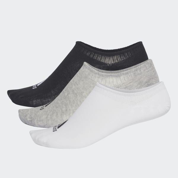 Performance Invisible Socks 3 Pairs Grey CV7410