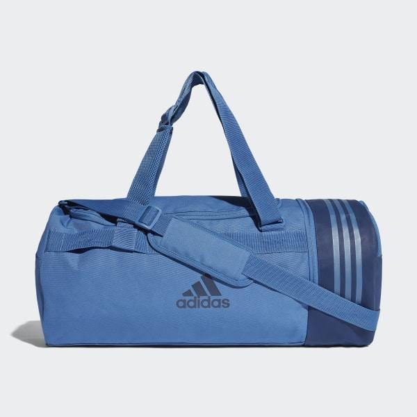 Convertible 3-Stripes Duffeltas Medium blauw CV5077