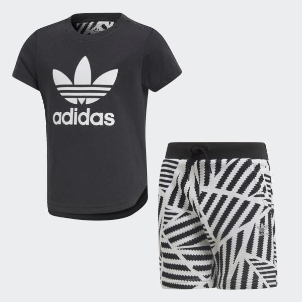 GRPHC Shorts und T-Shirt Set schwarz CD8420