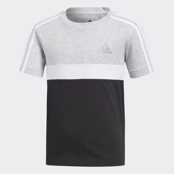 Cotton Colorblock T-shirt grijs DJ1479