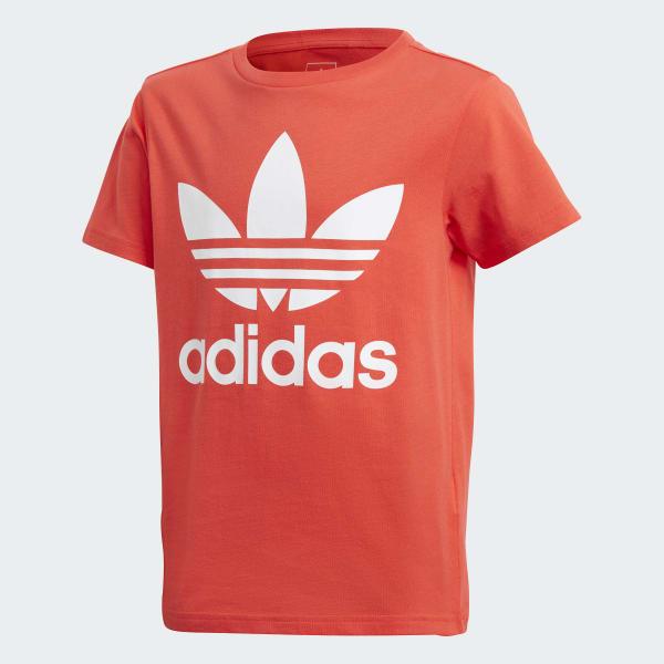 T-shirt Trefoil rouge DH2474
