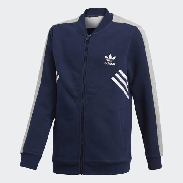 Track jacket Fleece SST Blu CE1086