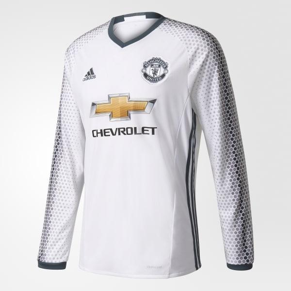 Camiseta tercera equipación Manchester United FC Réplica Blanco AI6689