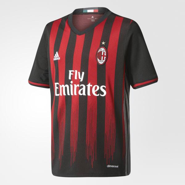 Camiseta Primer Uniforme AC Milan Negro AI6902