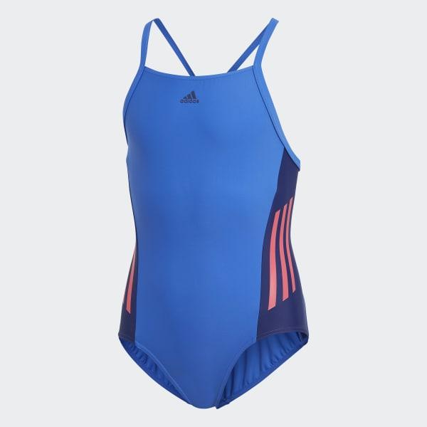 Colorblock Badeanzug blau DH2426